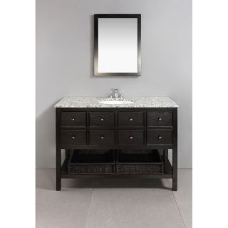 New Haven Espresso Brown 48 inch Bath Vanity with 2 Drawers and