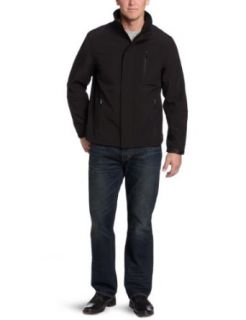 Calvin Klein Mens Soft Shell Zip Front Jacket Clothing