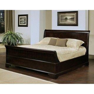 Abbyson Living Kingston Espresso Sleigh Queen size Bed