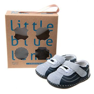 Little Blue Lamb Infant/ Toddler Hand stitched Navy Leather Walking