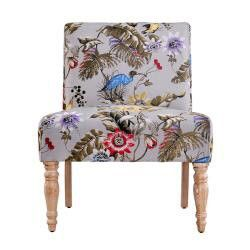 angeloHOME Bradstreet Antique Floral Bird Armless Chair