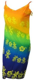 La Leela Lizard Printed Multicolor Swim Wrap Sundress Swim