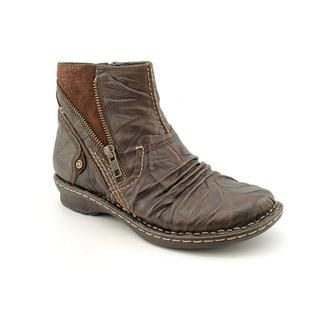 Earth Womens Poplar Distressed Leather Boots
