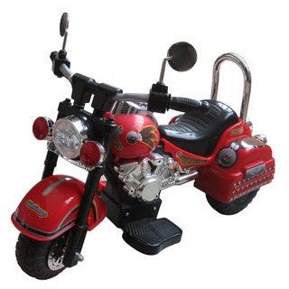Harley Style Red 6 Volt Motorcycle