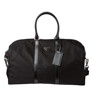 Prada Black Nylon Travel Duffle Bag