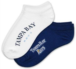 MLB Tampa Bay Rays Womens No Show Socks (2 Pack) Sports