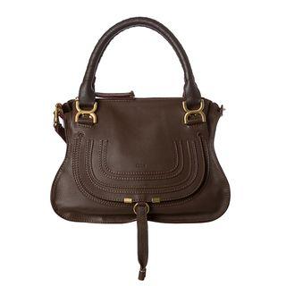 Chloe Marcie Small Brown Leather Satchel