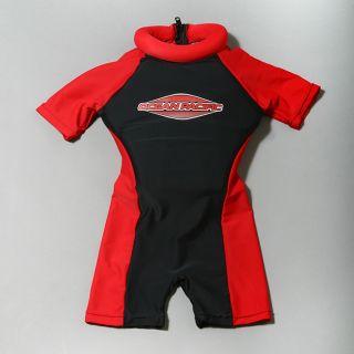 Ocean Pacific Kids Black/ Red Floatsuit