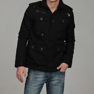 WT02 Mens Black Military Jacket