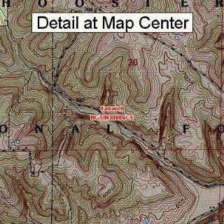 USGS Topographic Quadrangle Map   Taswell, Indiana (Folded