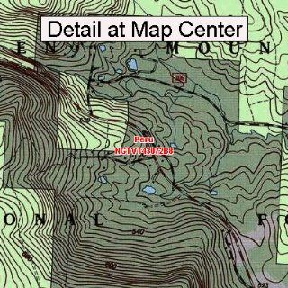 USGS Topographic Quadrangle Map   Peru, Vermont (Folded