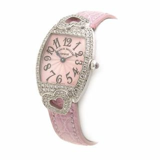 Franck Muller Curvex 18 kt. Diamond Heart Pink Watch