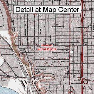 USGS Topographic Quadrangle Map   Portland, Oregon (Folded