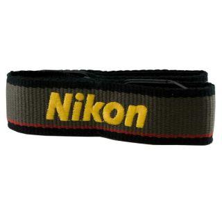 Nikon NS 1 Grey Woven Fabric Nikon Logo SLR Camera Neck/ Shoulder