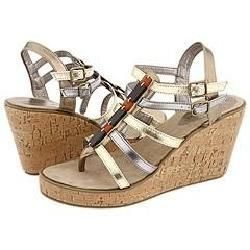 Madden Girl Shaken Gold Metallic Sandals