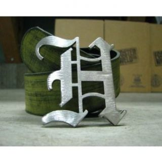 Laser Custom Old English Letter Belt Buckle: Clothing