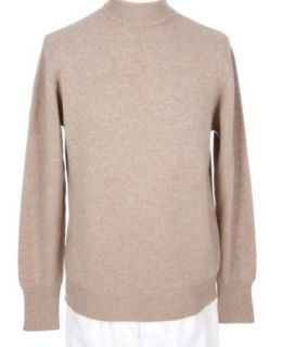 Shephe Mens Mock Turtleneck Cashmere Sweater Beige