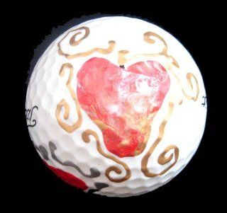 Valentine Treasure Design Hand Painted Golf Ball Sports