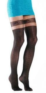 Womens Vertical Striped Art Deco Faux Thigh High Fashion