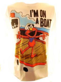 Sesame Street Elmo Mens T Shirt   Im On a Boat Image