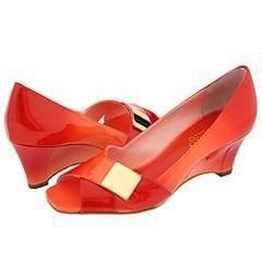 Franco Sarto Abide Rose Fantasy Patent Pumps/Heels