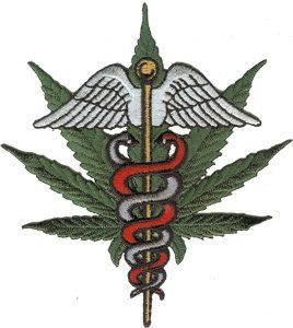 Novelty Iron on   Weed Medical Marijuana Pot Leaf Patch