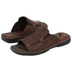 Kenneth Cole Reaction Play A Tune Dark Brown Leather Sandals