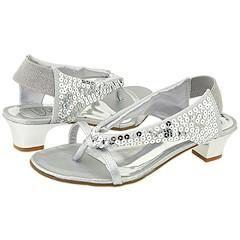 Bibi Kids 424186 (Toddler/Youth) Silver Sequin Sandals