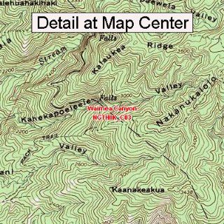 USGS Topographic Quadrangle Map   Waimea Canyon, Hawaii