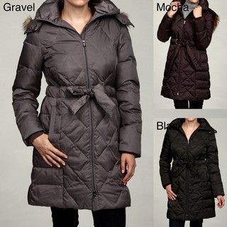 Kenneth Cole Womens Quilted Down Coat FINAL SALE