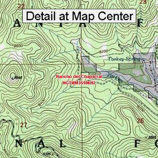 USGS Topographic Quadrangle Map   Rancho del Chaparral