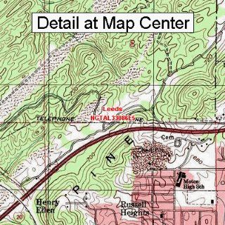 USGS Topographic Quadrangle Map   Leeds, Alabama (Folded