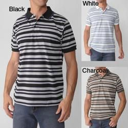 Adolfo Mens Striped Polo Shirt