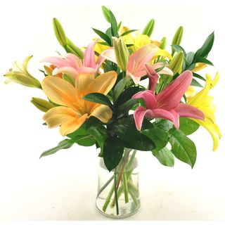Sweets in Bloom Spring Lilies Gift Bouquet