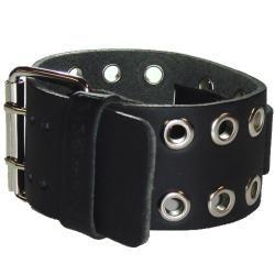 Nemesis EB Eyelet Black Leather Watch Band