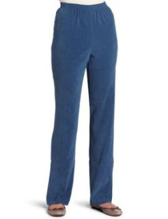 Alfred Dunner Womens Proportioned Medium Pant, Slate, 20