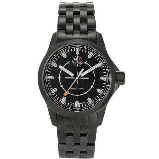 H3 Tactical Mens Stealth Mission Black Dial Stainless Steel Watch