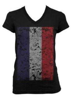(Cybertela) Faded Netherlands Flag Junior Girls V neck T