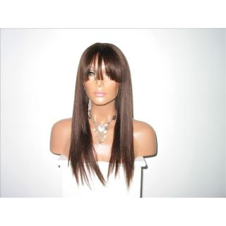 Star Flow Dark Brown Full Lace 22 inch Human Hair Wig