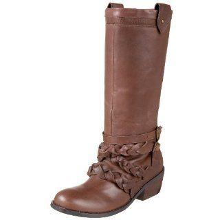 Matiko Womens Elise Short Shaft Motorcycle Boot,Java,6 M US Shoes