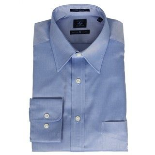 Joseph Abboud Mens Pointed Collar Blue Dress Shirt