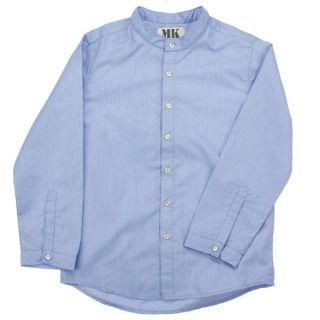 Chemise garçon   Coloris Bleu ozone   Entièrement boutonnée à l