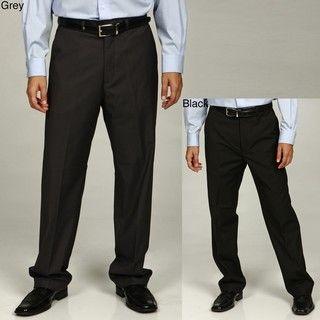 Elite by Eddie Domani Mens Flat front Dress Pants