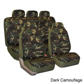 Camouflage Car Seat Covers/ Split Bench (Full Set)
