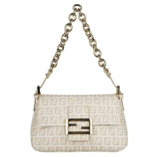 Fendi 8BR180 Forever Mama Mini Flap Canvas Shoulder Bag