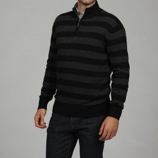 Geoffrey Beene Mens Stripe 1/4 Zip Sweater FINAL SALE