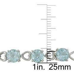 Sterling Silver Blue Topaz Tennis Bracelet