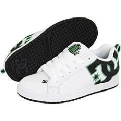 DC Mens Court Graffik AJ White/ Black/ Emerald Athletic Shoes