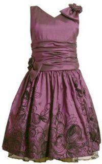 Bonnie Jean Girls 7 16 Irridescent Tafetta Dress,Purple,7