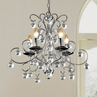 Messina 5 light Chrome and Crystal Chandelier